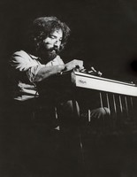 Jerry Garcia playing pedal steel guitar, ca. 1973