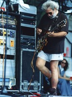 "Jerry Garcia playing the Doug Irwin guitar ""Rosebud"", ca. 1991"