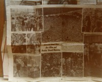 Grateful Dead: bulletin board display of a newspaper clipping about Raceway Park