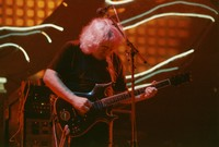 Jerry Garcia, with the guitar Lightning Bolt, ca. 1994