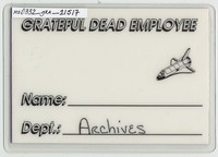 Grateful Dead - Spring 1989 - Access All Areas [laminate]