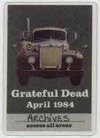 Grateful Dead - April 1984 - Access All Areas [laminate]