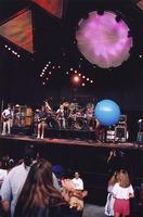Grateful Dead: Phil Lesh, Bob Weir, Bill Kreutzmann, Mickey Hart, Jerry Garcia (obscured)