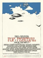 New Orleans Pop Festival - Byrds, Canned Heat, Chicago Transit Authority, Country Joe & the Fish, Grateful Dead, It's a Beautiful Day, Janis Joplin, Oliver, Santana, Spiral Staircase, Youngbloods, Dr. John the Night Tripper, Tyrannosaurus Rex - Aug. 31 and Sept. 1 - Official 20th Anniversary Edition 1969 New Orleans Pop Festival Poster.
