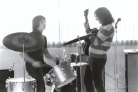 Grateful Dead practice session: Bill Kreutzmann and Jerry Garcia