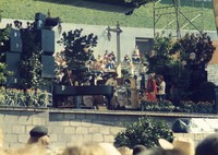 "Grateful Dead at ""A Day on the Green #8"": Bill Kreutzmann, Jerry Garcia, Mickey Hart, Bob Weir, Donna Godchaux, Phil Lesh"