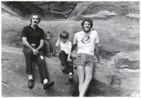 Bill Kreutzmann and Bill Walton and sons Justin and Adam at Red Rocks