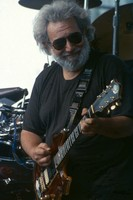 "Jerry Garcia, with the guitar ""Rosebud"""