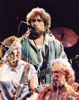 Grateful Dead and Bob Dylan: Bob Weir, Bob Dylan, and Jerry Garcia: multiple exposure