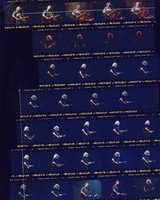 Grateful Dead at the Birmingham-Jefferson Civic Center: contact sheet with 33 images