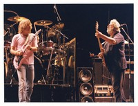 Grateful Dead, ca. 1985: Bob Weir and Jerry Garcia