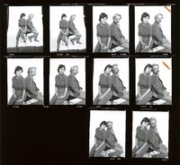 Unidentified couple: contact sheet with 10 images