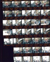 Grateful Dead at Portland Meadows: Jerry Garcia, Bob Weir, Phil Lesh: contact sheet with 33 images