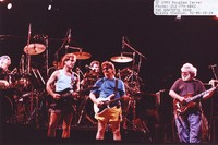 Grateful Dead and Steve Miller: Bob Weir, Steve Miller, and Jerry Garcia, with Bill Kreutzmann and Mickey Hart in the background