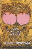 "Big Brother and the Holding Company, Richie Havens, Illinois Speed Press, Sly and the Family Stone, Jeff Beck Group, Siegal [sic] Schwall - Lights by Holy See - Bill Graham Presents in San Francisco - July 16-21 [1968] - ""Fillmore Carousel"""