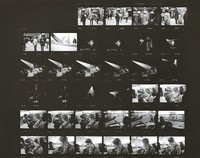 Grateful Dead during a three-day Dance Marathon, with Deadheads: contact sheet with 34 images