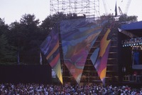 Grateful Dead, ca. 1995: stage construction and Deadheads