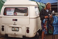 "Deadhead with vehicle with ""THE GD"" Florida license plate, ca. 1989"