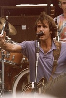Grateful Dead: Bob Weir, with Bill Kreutzmann in the background