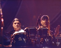 Bill Kreutzmann and an unidentified percussionist