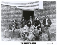 "Grateful Dead publicity photo for Warner Bros. Records taken at Mickey Hart's ranch: Bill Kreutzmann, Ron ""Pigpen"" McKernan, Jerry Garcia, Bob Weir, Mickey Hart, Phil Lesh"