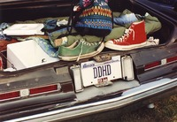 "Deadhead vehicle with ""DDHD"" Illinois license plate, ca. 1991"