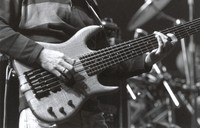 Phil Lesh's hands playing his bass, ca. 1990 or 1991