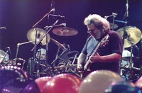 Grateful Dead: Bill Kreutzmann and Jerry Garcia, with Mickey Hart in the background
